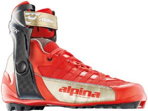 Бег.ботинки ALPINA ESK SUMMER 5769-2 красн/золот., коньк., для лыжероллеров