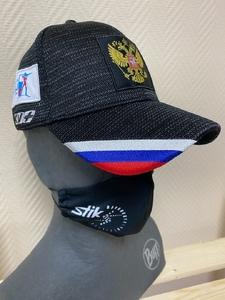 Бейсболка KV+ NATIONAL чёрн/серая (ч/c)