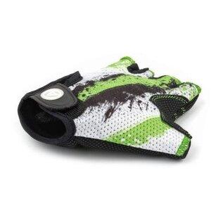 Велоперчатки AUTHOR Junior X6 зелено-белые