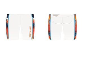 Шорты SPINE PRO гоночные белый/оранжевый (р.52)