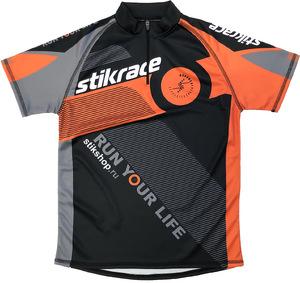 Футболка STIK Race черно-оранжевая