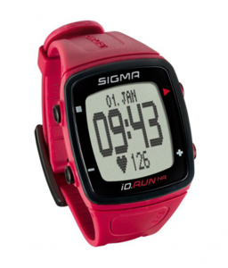 Пульсометр SIGMA ID.RUN HR ROUGE 24920, красн,часы с GPS