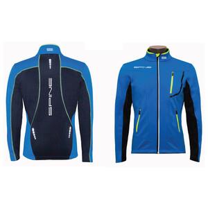 Куртка разминочная SPINE PRO (8630) голу./черн/желт.шов (р.44)